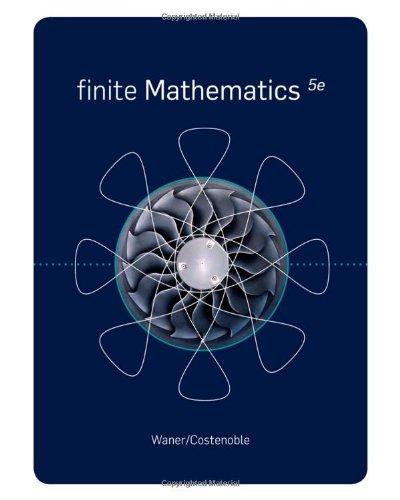Finite Mathematics (Available 2011 Titles Enhanced Web Assign)