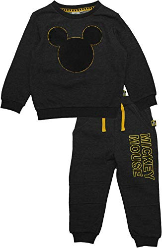 Mickey Mouse Disney Kids Logo Tracksuit Grey 4 Years (Logo Tracksuit)