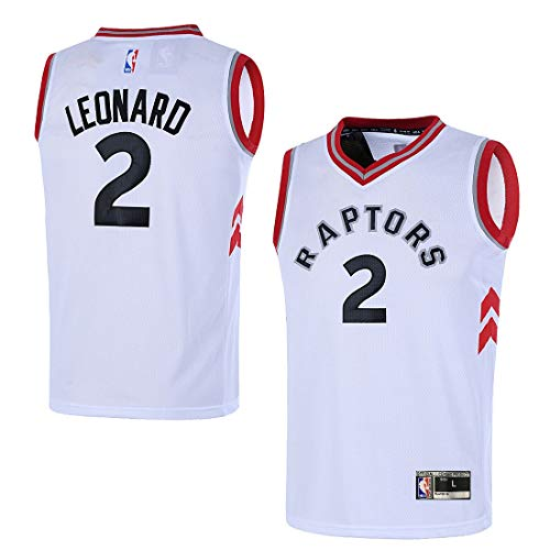 (Outerstuff Youth Toronto Raptors 8-20 #2 Kawhi Leonard Jersey (Youth Large 14/16, White))