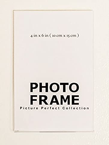 4x6 Clear Acrylic Picture Frame magnet; Magnetic Acrylic Photo Frames (5) - 4x5 Magnet