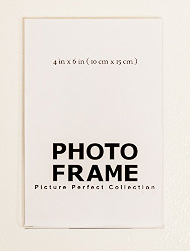 4x6 Clear Acrylic Picture Frame magnet; Magnetic Acrylic Photo Frames (150)