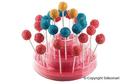 Expositor para Cake Pops, Easy Pops, Finger Sobre Stecco Easy Cream Silikomart Color Rosa