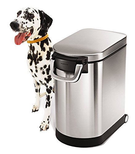 Simplehuman Brushed Stainless Steel Pet Food Storage Can