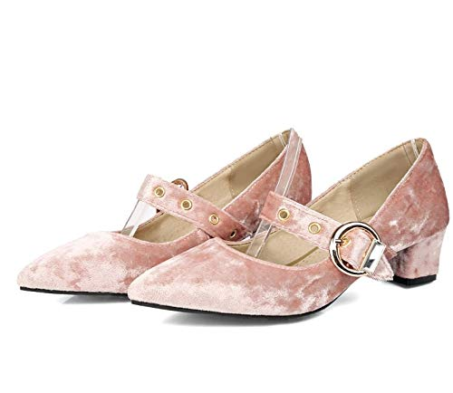 rose HommesGLTX Talon Aiguille Talons Hauts Sandales New Plus Big and Small 32-48 Taille 4 Couleur New Spring Autumn Wohommes Pumps femmes chaussures Pointed Toe Square Heel