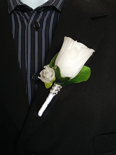 Amazon boutonniere white rosebud with mini white flower boutonniere white rosebud with mini white flower white stem mightylinksfo