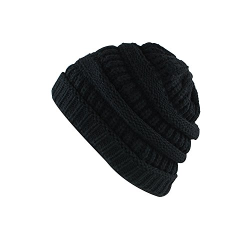 Olive Mens Beanie (Super Z Outlet Knit Sew Outdoor Low Slouch Thermal Ski Beanie headgear For Snowboard, Cycling, Sports, Cold Weather Protection (Black))
