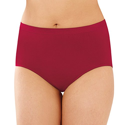 Bali Microfiber Soft Seamless Comfort Damask Briefs Armature Red 11 ()