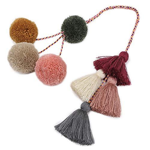 Tassel Keychain Fashion Multipurpose Key Ring Pendant Pom Pom Tassel Bag Charm