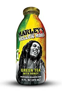 Marley's Mellow Mood Green Tea with Honey, 16 Fl Oz (Pack of 12)
