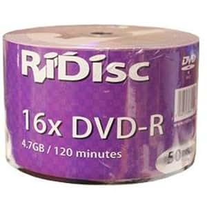 DVD-R 16X RIDISC BOBINA 50 UNDS AZUL