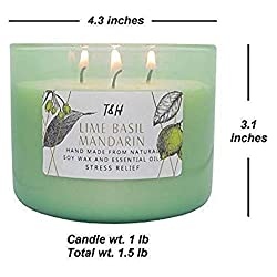 T&H Stress Relief Aromatheraphy Candles 3 Wick