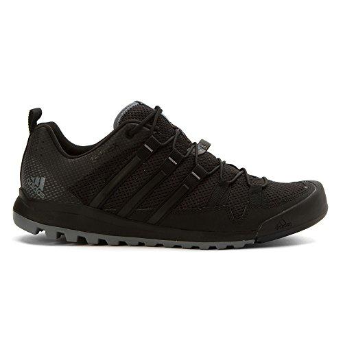 Adidas Terrex al aire libre Solo Enfoque de zapatos Negro / vista gris / blanco tiza 6 Black / Vista Grey / Chalk White