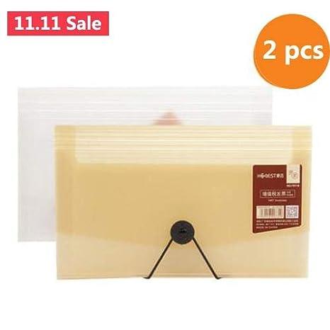 Amazon.com: ATUKI - Carpeta de archivos, 2 unidades, tamaño ...