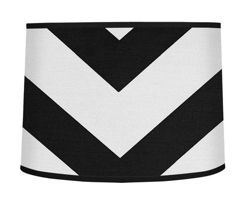 Sweet Jojo Designs Black and White Chevron Zigzag Lamp Shade ()