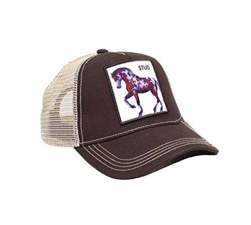 - Kenny K. Men's Funny Trucker Hat Animal Farm Patch Baseball Cap (Stud Horse Brown)