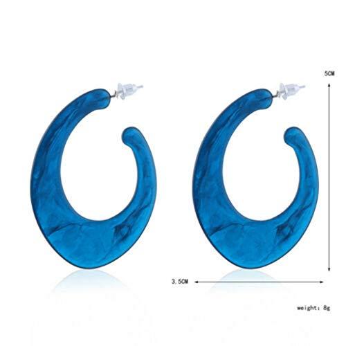 Fine Women Geometric Pendant Dangle Drop Statement Jewelry Acrylic Acid Earrings Personality Simple Earrings(5 - Pendant Turquoise Acrylic