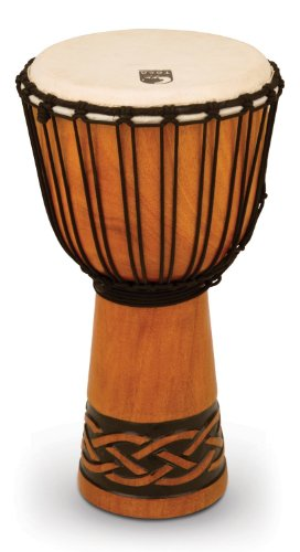 Toca TODJ-10CK Origins Series Rope Tuned Wood 10-Inch Djembe - Celtic Knot Finish Toca Wood