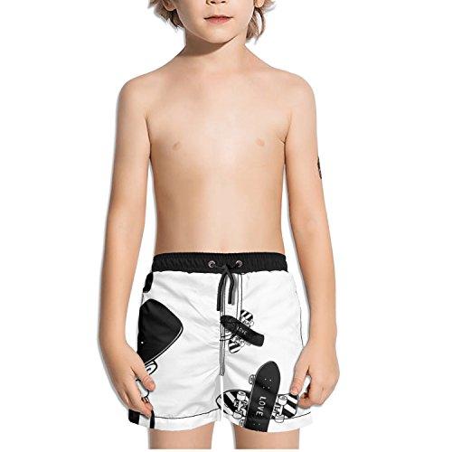 Ouxioaz Boys Swim Trunk Animal Zebra Beach Board Shorts