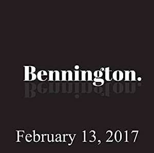 Bennington, February 13, 2017 Radio/TV Program