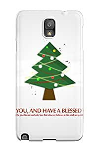 New Design Shatterproof TOdnaFD7031FtMvo Case For Galaxy Note 3 (christmas Tree God Bless You)