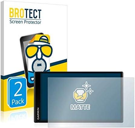 BROTECT 2x Antireflecterende Beschermfolie compatibel met Garmin DriveSmart 65 AntiGlare Screen Protector Mat Ontspiegelend