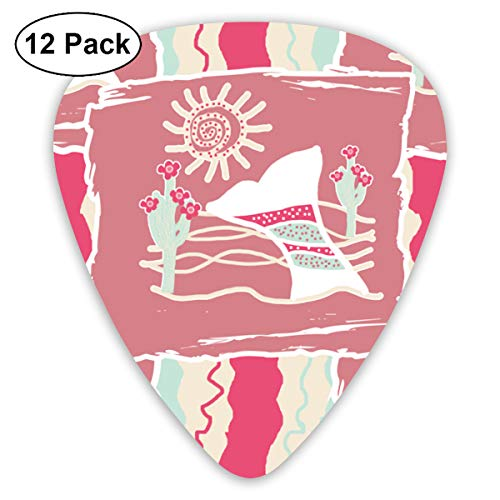 Whaling Boat (I Saw A Whaling Boat. Bendy Ultra Thin 0.46 Med 0.73 Thick 0.96mm 4 Pieces Each Base Prime Plastic Jazz Mandolin Bass Ukelele Guitar Pick Plectrum Display)