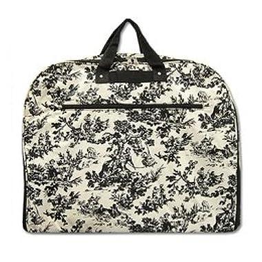 World Traveler 40-inch Toile Garment Bag, Ivory and Black