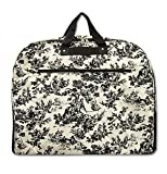 French Toile Black Garment Bag, Bags Central