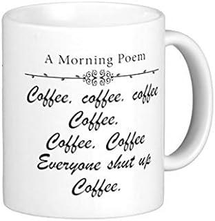 Una poesia mattina caffè Tazze in ceramica tazza da tè tazze di Natale per donne 311,8gram