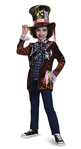 Alice Movie Costumes (Mad Hatter Classic Alice Through The Looking Glass Movie Disney Costume, Large/10-12)