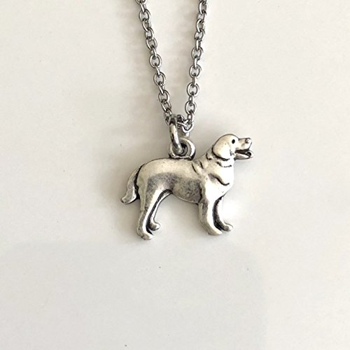 - Golden Retriever Necklace on Stainless Steel Chain - Lab Dog Breed Jewelry - Dog Mom Gift