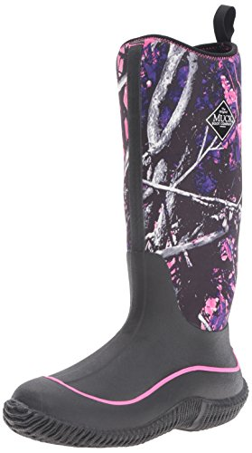 Muck Boots Hale Multi-Season Women's Rubber Boot, Black/Muddy Girl Camo, 10 M US