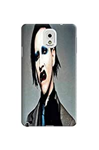 Luxury design TPU phone back case cover with cartoon fit for Samsung Galaxy note3 (Marilyn Manson)