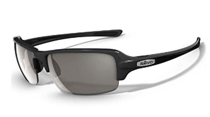 Revo Abyss - Lente de grafito negro reciclado/grafito, marco, grafito, gafas de sol polarizadas rectangulares: Amazon.es: Ropa y accesorios