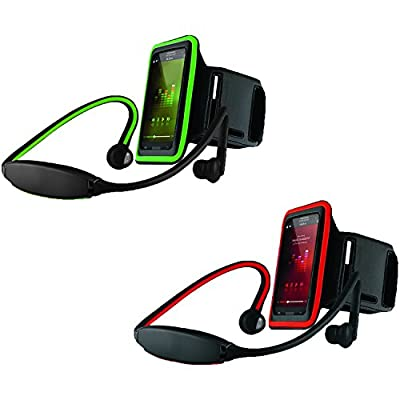"""Hype® Active Gear Sport Workout Neoprene Armband, for Apple iPhone 5s 5c 4s 4, Samsung Galaxy S5 S4 S3, HTC One M7, Nexus 5 4, Moto X, Motorola Droid Razr Maxx, Nokia Lumia, Sony Xperia, iPod Touch, MP3 Players and all Cell Phone with less than a 5"""" Scre"""