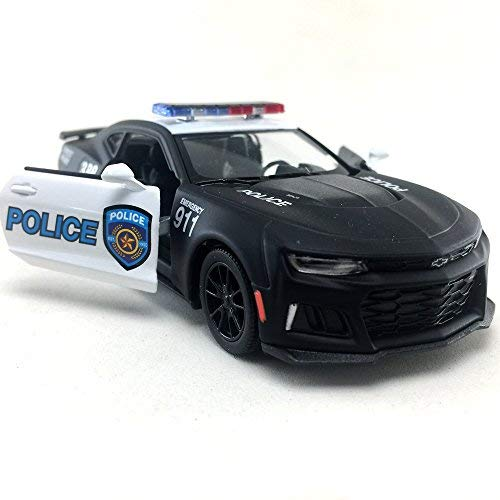 Kinsmart 2017 Chevrolet Chevy Camaro ZL 1 Black Color Police Car 1:38 DieCast,Model,Toy,Car,Collectible,Collection,Hobby