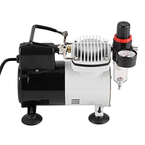 Air Compressor Pump, Silent Portable Colors Air Compressor Double Action Spray Paint Kit Suitable for Art Inkjet Printing US - 110 Inkjet
