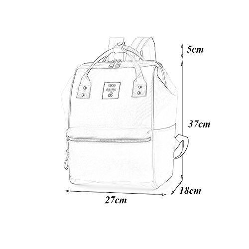 Wild Bag Backpack Blue Fashion Style Harajuku Red Large Bag Canvas Big Bag color Style Backpack Korean Japanese Female Shoulder Capacity ndtxq0Cwt