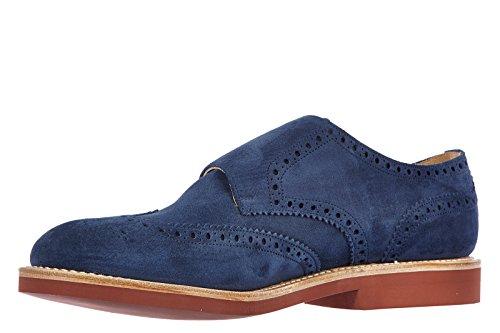 Church's chaussures habillées classiques homme en daim monkstrap kelby blu