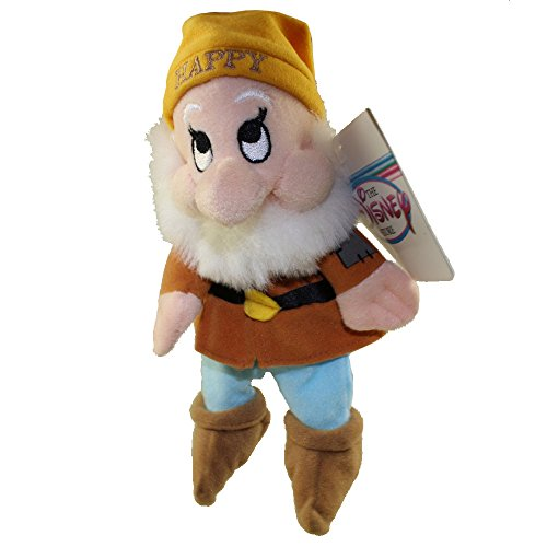 Happy - Snow White Dwarf - Disney Mini Bean Bag Plush