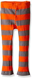 Trumpette Baby Toddler Girls\' Unisex T-Rex Orange Stripe Leggings, Multi, 12-18 Medium