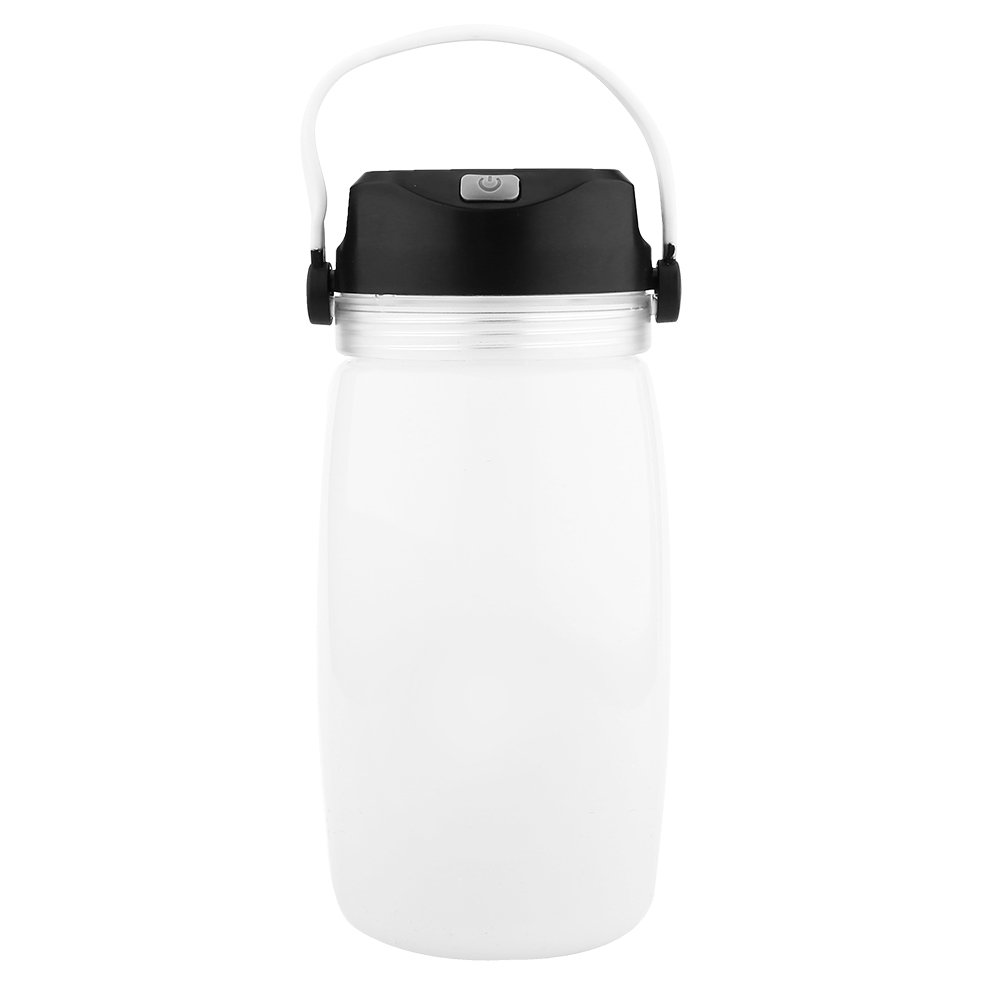 VGEBY Foldable LED Camping Lentern, Solar and USB Power Portable Fhishing Light Water Storage Bottle for Outdoor Equipment Tools (Color : White)