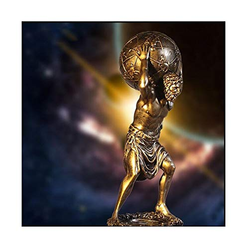 Home Decoration, Creative Greek Warrior Optimus Prime Sculpture Character Crafts Jewelry, Desktop Decoration Hall TV Cabinet Decoration Gold Optional ( Color : Gold , Size : 27.51111cm ) (The Sky Was The Color Of Television)