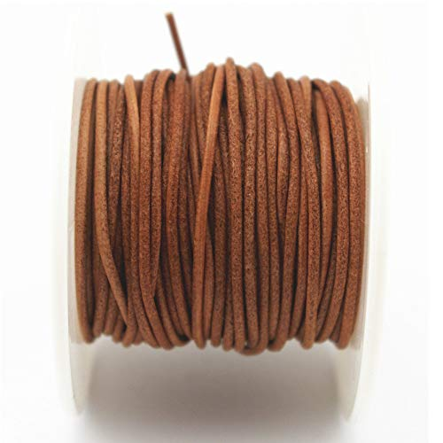 - Glory Qin Soft Round Genuine Jewelry Leather Cord Leather Rope (Natural 1.5mm 10Yards)