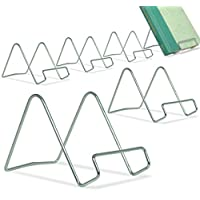 BANBERRY DESIGNS Silver Wire Easel Display Stand - Smooth Chrome Metal - 3 Inch