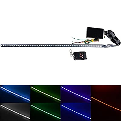 "2X Set 7-Color 48 SMD Scanning LED 22"" Knight Rider Strip Light Turn Signal Light Car Interior Lighting Decoration: Automotive"