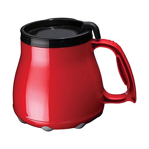 Low Rider No Tip Desk Mug, Coffee Mug, Made in America (Red)