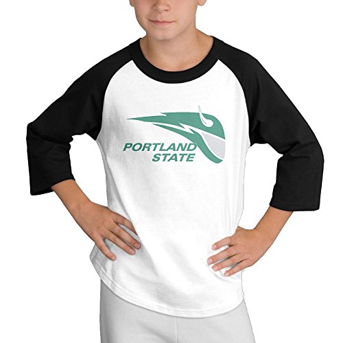Price comparison product image MULTY9 Portland State University Vikings Child Youth 3/4 Sleeve T Shirts Medium