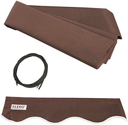 ALEKO FAB12X10BROWN36 Retractable Awning Fabric Replacement 12 x 10 Feet Brown