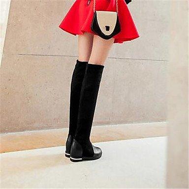 comodidad soporte Desy Casual de bajo comodidad sintética tacón negro invierno botas para mujer 0qxfP0